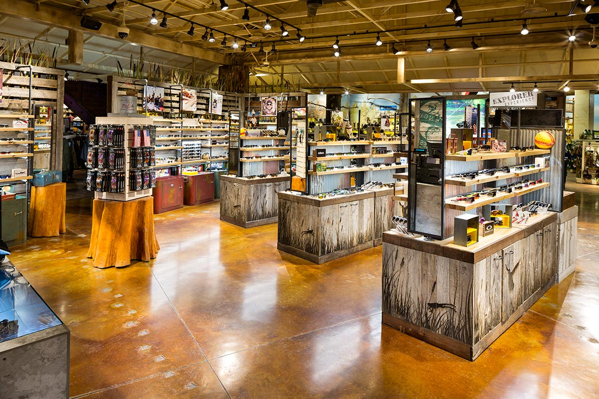 Apex Sunglasses at Bass Pro Memphis photographed by Mark Steele Photography Inc.