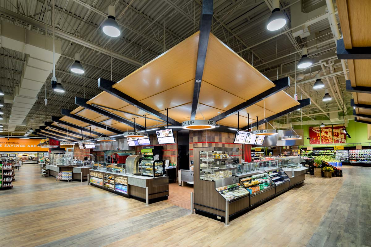 Hannaford Grocery, Bedfrod NH photographed by Mark Steele Photography Inc.