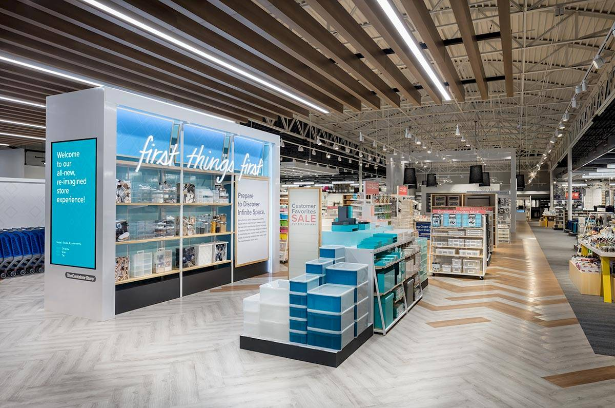 The Container Store Dallas prototype photographed by Mark A Steele Photography Inc