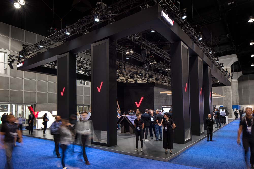 Verizon 5g booth at the Los Angeles  Mobile World Congress Americas photographed  by  Mark A Steele Photography Inc