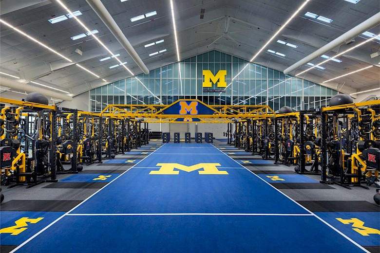 University of Michigan – Schembechler Hall Football Performance Center Renovation photography by Mark Steele Photography